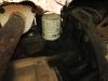 Старый масляный фильтр вид снизу