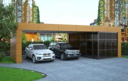 Визуализация гаража в поселке Променад